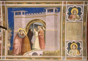 Giotto, Begegnung an der Goldenen Pforte - Meeting at the Golden Gate / Giotto - Giotto, La Rencontre a la porte d'or